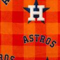 Houston Astros Fleece Fabric-Buffalo Plaid