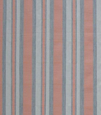 Linen & Linen Look Fabric -Coral Stripes