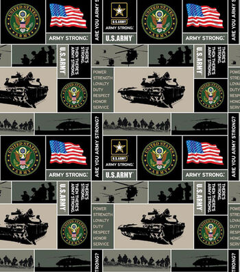 "United States Army Fleece Fabric 58""-Allover"