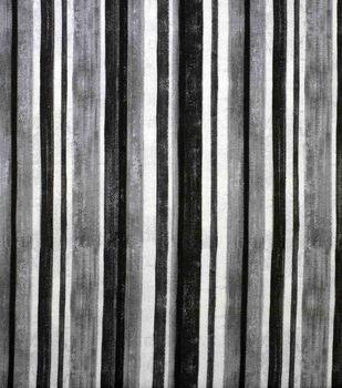 Oudoor Canvas Fabric-Black & White Stripe