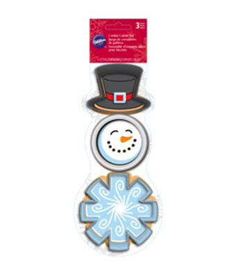 Metal Cookie Cutter Set 3/Pkg-Snowman