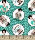 Novelty Cotton Fabric -Coffee Diva