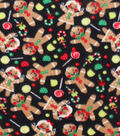 Anti-Pill Fleece Fabric 59\u0022-Tossed Gingerbread