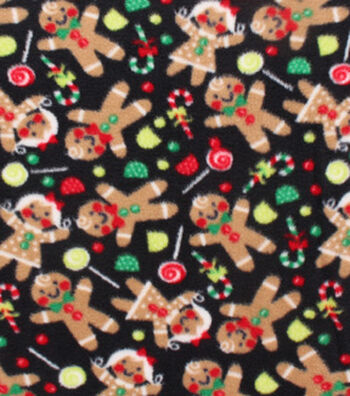 "Anti-Pill Fleece Fabric 59""-Tossed Gingerbread"