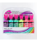 Tulip Dimensional Fabric Paint Sets Neon 4OZ 6PK