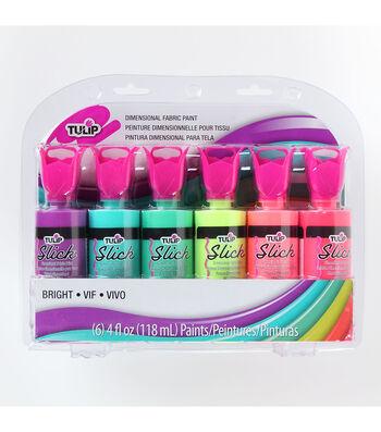 Tulip Dimensional Fabric Paint Sets Neon 4OZ 6PK