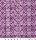 Keepsake Calico Cotton Fabric 43\u0027\u0027-Purple Tonal Geometric Diamond