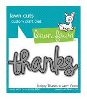 Lawn Fawn Lawn Cuts Custom Craft Die -Scripty Thanks, , hi-res