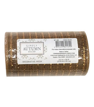 Simply Autumn Decor Decorative Mesh 5.5''x30'-Copper