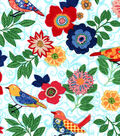 Snuggle Flannel Fabric -Patterened Birds & Flowers