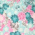 Sew Lush Fleece Fabric-Pink Blue Floral