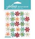 Jolee\u0027s Boutique 25 Pack 4\u0027\u0027x4.5\u0027\u0027 Stickers-Mini Snowflake