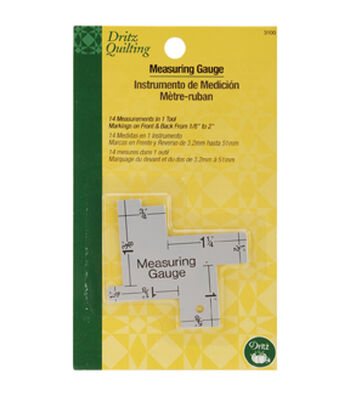 Dritz Quilting 14-In-1 Measuring Gauge Multipack of 12