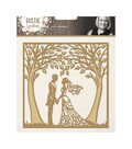 Crafter\u0027s Companion Signature 5\u0027\u0027x5\u0027\u0027 Rustic Wedding Die-Just Married
