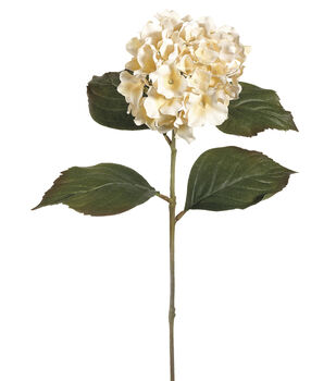 "Bloom Room 26"" Hydrangea Stem-Vanilla"