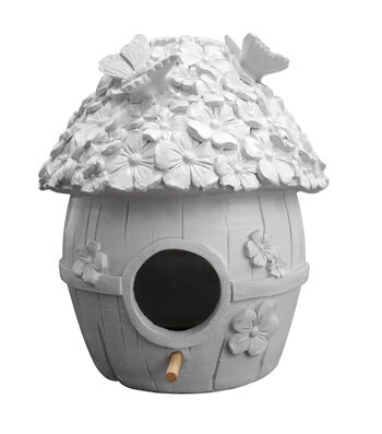 Simply Spring Birdhouse Large Resin-Gnome House