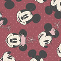 Disney Mickey & Minnie Flannel Fabric-Tossed Heads