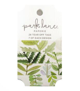 Park Lane Paperie 28 pk Tear off Tags-Greenery
