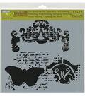 The Crafter\u0027s Workshop Rebekah Meier 12\u0027\u0027x12\u0027\u0027 Stencil-Regal Butterfly