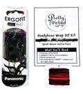 Pretty Twisted Headphone Wrap DIY Kit W/Earphones-Heavy Metal