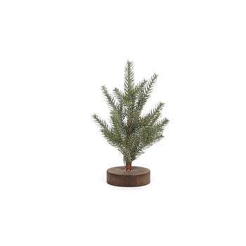 Handmade Holiday Small Christmas Tree with Wooden Base