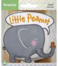 Simplicity 4\u0027\u0027 Baby Elephant Iron-on Applique-Little Peanut