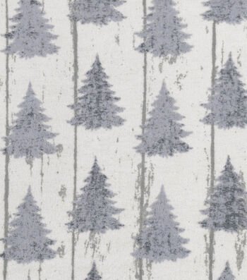 Snuggle Flannel Fabric -White Wash Pines