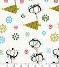Christmas Cotton Fabric-Penguins & Christmas Trees