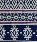 Doodles Collection - Majestic Jacquard Aztec Multi Blue