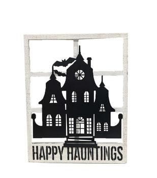 Maker's Halloween Haunted House Window Wall Decor-Happy Hauntings