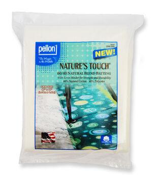 "Pellon Nature's Touch 60/40 Natural Blend Batting 34""x45"""