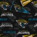 Jacksonville Jaguars Fleece Fabric-Retro