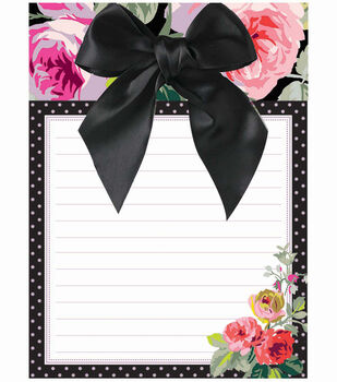 Anna Griffin Grace Blk Floral Notepad