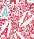 Snuggle Flannel Fabric -Paris Love