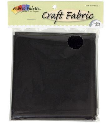 "Craft Cotton Fabric-Solids 45"" Wide 1/2 Yard Cut-Black 1/Pkg"