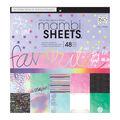 Mambi Single-Sided Paper Pad 12\u0027\u0027X12\u0027\u0027 48/Pkg-Rainbow Foil
