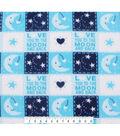 Nursery Fleece Fabric 59\u0027\u0027-Love You to the Moon and Back Patch