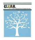 Clear Scraps 12\u0027\u0027x12\u0027\u0027 Plastic Stencil-Family Tree