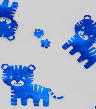 Specialty Netting Fabric 57''-Blue Foil Tiger