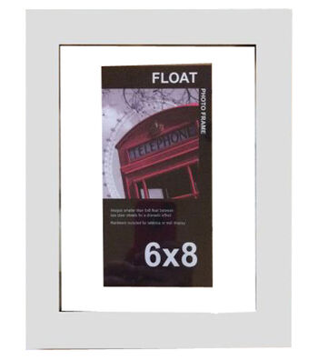Wood Float Photo Frame 6''x8''-White