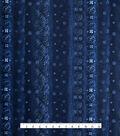 Stretch Chiffon Fabric 57\u0027\u0027-Dark Blue Subtle Boho