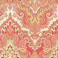 Waverly Lightweight Decor Fabric 54\u0022-Paisley Verse/Crimson