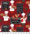 Novelty Cotton Fabric-Italian Chef