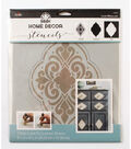 FolkArt Home Decor 3 pk 9.5\u0027\u0027x8.5\u0027\u0027 Laser Cut Layering Stencil-Medallion