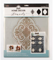 FolkArt Home Decor 3 pk 9.5''x8.5'' Laser Cut Layering Stencil-Medallion, , hi-res