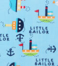 Anti-Pill Fleece Fabric 59\u0022-Little Sailor And Boats