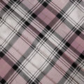 Sew Sweet Satin Fabric-Stewart Plaid on Pink & Gold