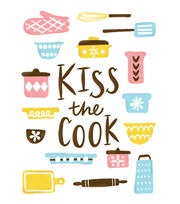 Cricut Large Iron-On Design-Kiss the Cook, , hi-res