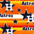 Houston Astros Fleece Fabric -Stripe