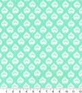 Quilters Showcase Cotton Fabric-Pattern Leaf Aqua